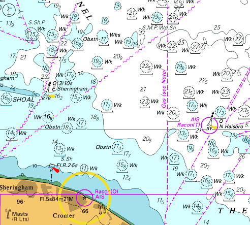 Meridian chartware admiralty imray nautical sea charts and